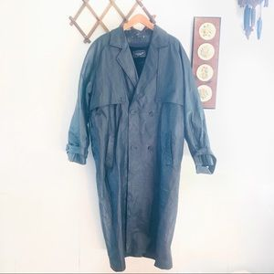 Cougar Leather Heavyweight Trench Coat